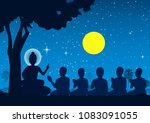 lord of buddha sermon to five... | Shutterstock .eps vector #1083091055