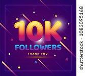 10k or 10000 followers thank... | Shutterstock .eps vector #1083095168