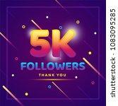 5k or 5000 followers thank you... | Shutterstock .eps vector #1083095285