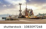 port blair harbor andaman india ... | Shutterstock . vector #1083097268