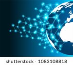 linking entities global network ... | Shutterstock .eps vector #1083108818