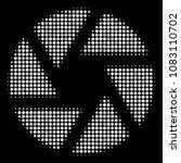 shutter halftone vector icon.... | Shutterstock .eps vector #1083110702