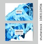 set of vector business card... | Shutterstock .eps vector #1083110936