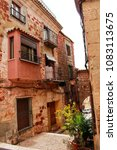 narrow streets with renaissance ... | Shutterstock . vector #1083113675