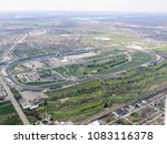 Aerial view of indianapolis 500 ...