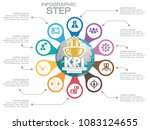 infographic kpi concept with... | Shutterstock .eps vector #1083124655
