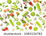 various fresh vegetables... | Shutterstock . vector #1083126782