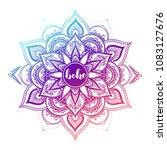 round gradient mandala on white ... | Shutterstock .eps vector #1083127676
