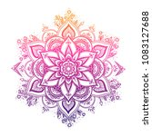 round gradient mandala on white ... | Shutterstock .eps vector #1083127688