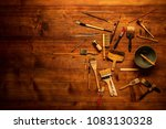 painting still life with lot of ... | Shutterstock . vector #1083130328