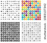100 veterinary icons set vector ... | Shutterstock .eps vector #1083137342