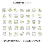 set of vector line icons and... | Shutterstock .eps vector #1083139925