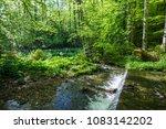 springtime in the forest near... | Shutterstock . vector #1083142202