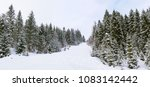 panoramic view of the snow... | Shutterstock . vector #1083142442