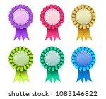 ribbon award badge pink light... | Shutterstock .eps vector #1083146822