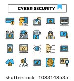cyber security and cyber crime... | Shutterstock .eps vector #1083148535