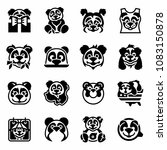 vector national panda day icon... | Shutterstock .eps vector #1083150878