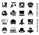 vector national hat day icon set | Shutterstock .eps vector #1083150905