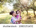 mother with cute and funny... | Shutterstock . vector #1083151652