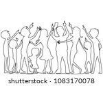 a group of people from a... | Shutterstock .eps vector #1083170078
