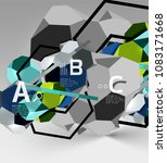 3d hexagon geometric... | Shutterstock .eps vector #1083171668