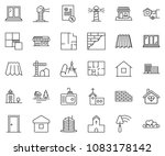 thin line icon set  ... | Shutterstock .eps vector #1083178142