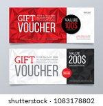 gift voucher design template.... | Shutterstock .eps vector #1083178802