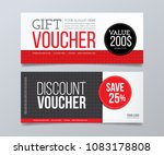 gift voucher design template.... | Shutterstock .eps vector #1083178808