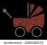 baby carriage halftone vector... | Shutterstock .eps vector #1083180272