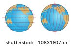 geographic coordinate system of ... | Shutterstock . vector #1083180755