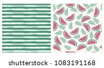 summertime hand drawn set.... | Shutterstock .eps vector #1083191168