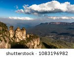 the three sisters and mount... | Shutterstock . vector #1083196982