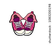sneakers converse shoes pair... | Shutterstock .eps vector #1083200198