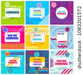 we are hiring template  banner... | Shutterstock .eps vector #1083201572