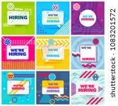 we are hiring template  banner... | Shutterstock .eps vector #1083201572