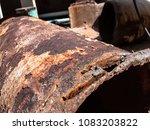cutting steel using heat such... | Shutterstock . vector #1083203822
