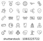 thin line icon set  ... | Shutterstock .eps vector #1083225722