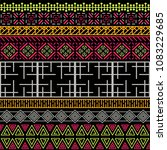 tribal ethnic seamless pattern. ... | Shutterstock .eps vector #1083229685