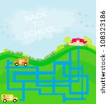 back to school   maze | Shutterstock .eps vector #108323186