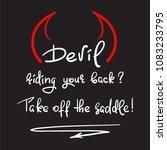 devil riding your back  take...   Shutterstock .eps vector #1083233795
