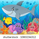coral fauna topic image 3  ... | Shutterstock .eps vector #1083236312