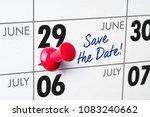 wall calendar with a red pin  ... | Shutterstock . vector #1083240662