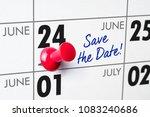 wall calendar with a red pin  ... | Shutterstock . vector #1083240686
