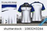 polo t shirt with zipper ... | Shutterstock .eps vector #1083243266