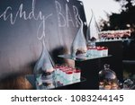 cakes  sweets and drinks stand... | Shutterstock . vector #1083244145