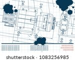 mechanical engineering drawings ... | Shutterstock .eps vector #1083256985