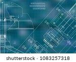 mechanical engineering drawings.... | Shutterstock .eps vector #1083257318
