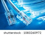 network cables and bundle of... | Shutterstock . vector #1083260972
