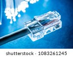 network cables and optical... | Shutterstock . vector #1083261245