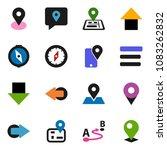 solid vector ixon set   compass ... | Shutterstock .eps vector #1083262832